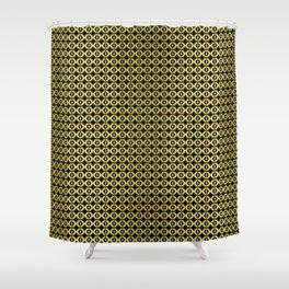 tile 2 black / gold Shower Curtain