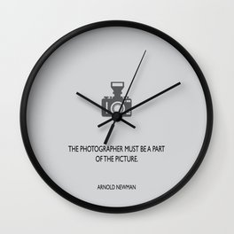 The photographer Wall Clock