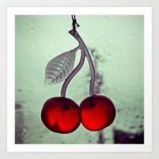 Retro cherry details Art Print