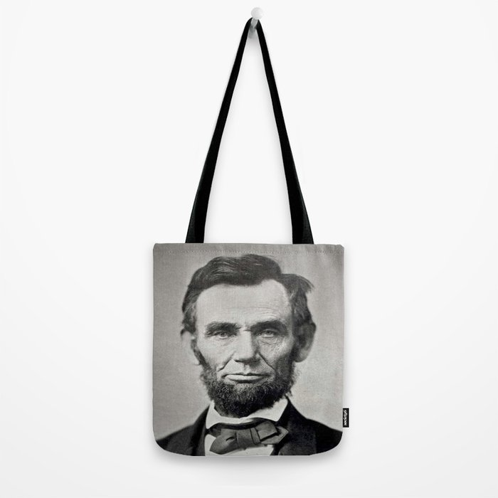 Portrait of Abraham Lincoln by Alexander Gardner Tote Bag