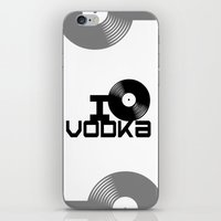 vodka iPhone & iPod Skins featuring LOVE VODKA by Giovanni Potenza