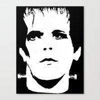 lou reed Canvas Prints featuring Lou Reed Reanimated  by Spirit Monster