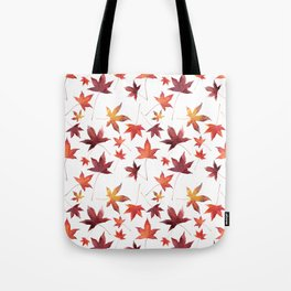 Dead Leaves over White Tote Bag