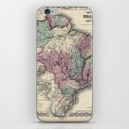 Colton's Brazil with Guayana - 1871 iPhone Skin