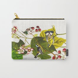 Black and Yellow Warbler Bird Carry-All Pouch