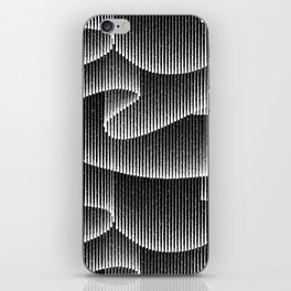 Aurora Borealis_Black and White iPhone Skin
