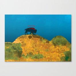 Bizon vert Canvas Print