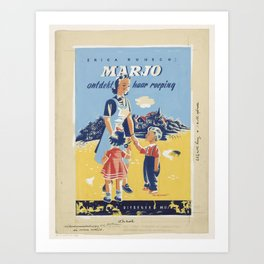 Erica Ruijsch, Marjo discovered her vocation in 1946, Eddy de Smet, in or before 1946 Art Print