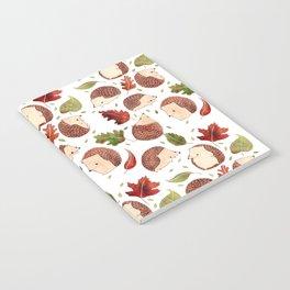 Autumn Hedgehogs Notebook