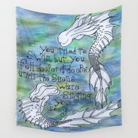 siren Wall Tapestries featuring Siren Song by Meraki Magic