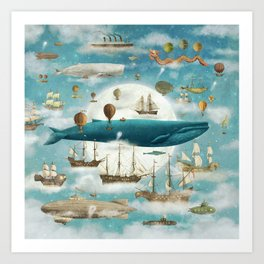 Ocean Meets Sky - from picture book Art Print