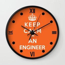 Keep Calm I'm An Engineer Wall Clock