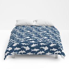 Sharks on Regal Blue Comforters