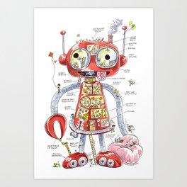 The Automaton of Astounding Magnitude Art Print