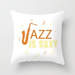 Jazz Is Saxy Throw Pillow