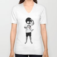 law V-neck T-shirts featuring LAW by Seamless