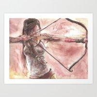 tomb raider Art Prints featuring Tomb Raider by LK'sArts