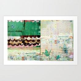 Paper Crane City Art Print