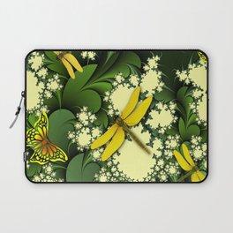 Yellow Dragonflies Laptop Sleeve