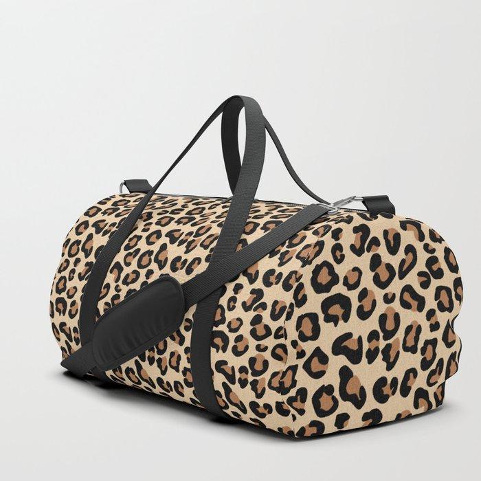 Leopard Print, Black, Brown, Rust and Tan Sporttaschen