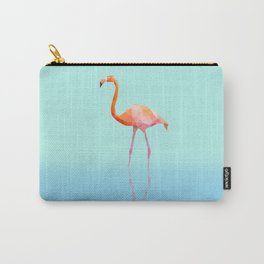 Low Poly Flamingo with reflection Carry-All Pouch