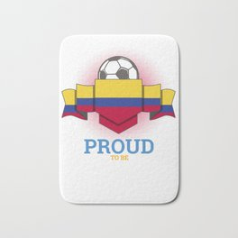 Football Colombians Colombia Soccer Team Sports Footballer Goalie Rugby Gift Bath Mat