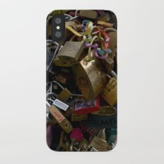 Lovers locks iPhone X Slim Case