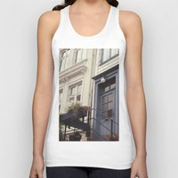 norway Tank Tops featuring Norway II by Cynthia del Rio