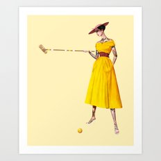 Croquet and Ink Three Art Print