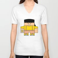 power rangers V-neck T-shirts featuring Mighty Morphin Power Rangers - Trini (The Original Yellow Ranger) by Choo Koon Designs