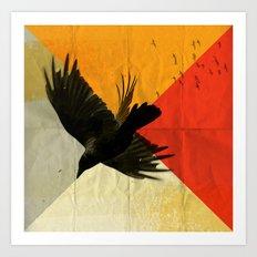 pitch of a ravin Art Print