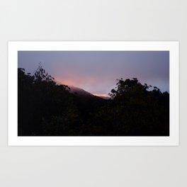 Descending Mt. buller, Australia Art Print