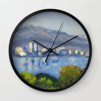 monet Wall Clocks featuring Monet Study by Paige Melinis