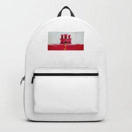 Gibraltar Flag design | Gibraltarian design Backpack