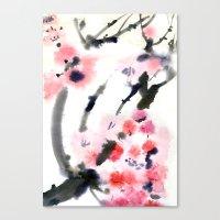 sakura Canvas Prints featuring Sakura by Nina