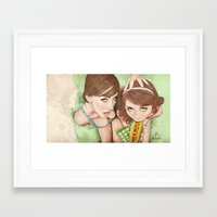 girls Framed Art Prints featuring Life's a Picnic, Bring Your Friend by keith p. rein