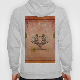 Decorative dragon with floral elements Hoody