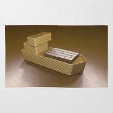 Chocolate Ship - 3D Art Rug