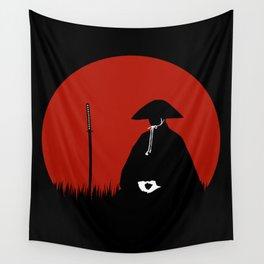 Meditating Samurai Warrior Wall Tapestry