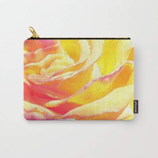 Love and Peace Pastel Rose Carry-All Pouch