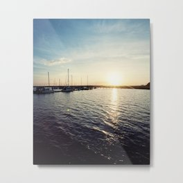 Sails at Sunset Metal Print