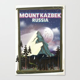 Mount Kazbek Russia. Canvas Print