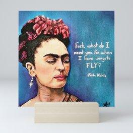 Frida has wings Mini Art Print