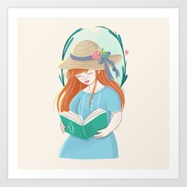 The Book Lover Art Print