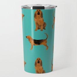 Bloodhound dog breed pet pattern hounds dog portrait bloodhounds gifts Travel Mug