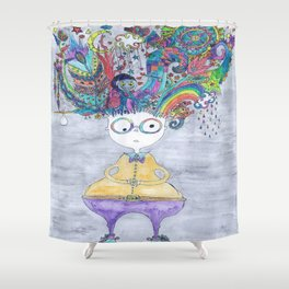And Suddenly, Thoughts Everywhere Shower Curtain