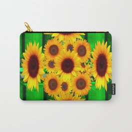 SPRING GREEN EMERALDS & YELLOW FLOWERS  ART Carry-All Pouch