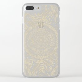 Medallion Pattern in Pale Tan Clear iPhone Case