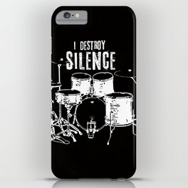 I destroy silence iPhone Case