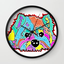 Cotton Candy Dots Westie West Highland Dog Pet Terrier Scottish Scotland Cairn Border Glen Fox Kerry Wall Clock